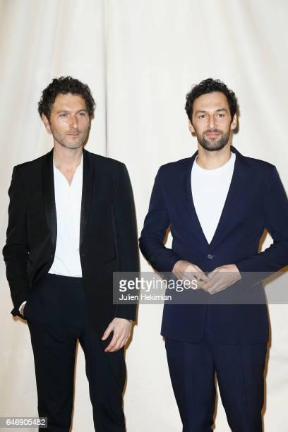 Simon Buret and Olivier Coursier attend the HM Studio show as part of the Paris Fashion Week on March 1 2017 in Paris France