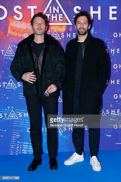 Simon Buret and Olivier Coursier attend the Paris Premiere of the Paramount Pictures release 'Ghost in the Shell' Held at Le Grand Rex on March 21...
