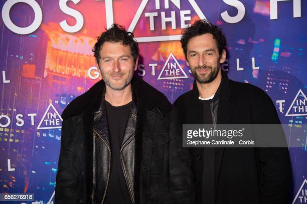 Simon Buret and Olivier Coursier attend the Paris Premiere of the Paramount Pictures release 'Ghost In The Shell' at Le Grand Rex on March 21 2017 in...
