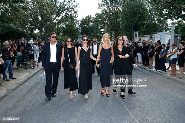 Simon Burstein, his and Nathalie's daughter's ; Salome Burstein, Tatiana Burstein, Lola Burstein, daughter of Sonia, Nathalie Rykiel and her brother,...