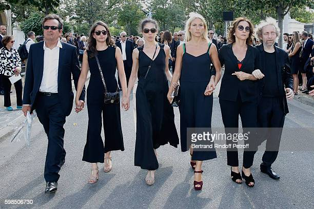 Simon Burstein his and Nathalie's daughter's Salome Burstein Tatiana Burstein Lola Burstein daughter of Sonia Nathalie Rykiel and her brother son of...