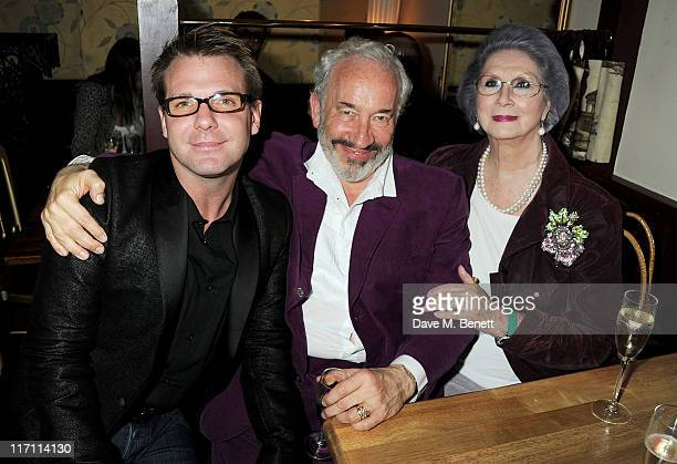 Simon Callow and April Ashley attend an after party following press night of Being Shakespeare at Walkers on June 22 2011 in London England