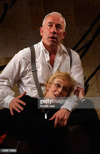 Simon Callow and Geraldine Alexander perform in Simon Gray's play The Holy Terror at the Duke of York Theatre