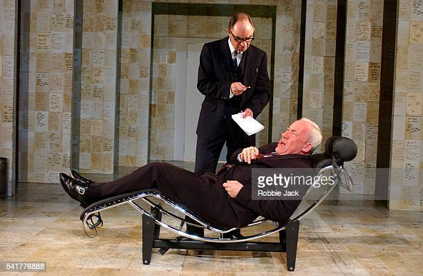 Simon Callow and Robin Soans perform in Simon Gray's play The Holy Terror at the Duke of York Theatre