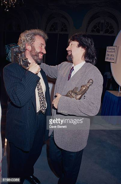 Simon Callow and Trevor Nunn at the Evening Standard Theatre Awards held at the Savoy Hotel London 12th November 1991 Callow won the Ned Sherrin...