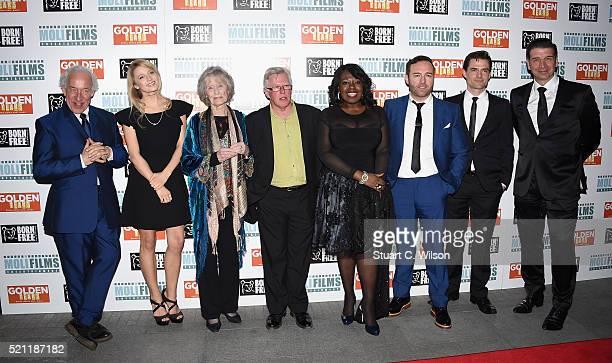 Simon Callow, Lily Travers, Virginia McKenna, Phil Davis, Ellen Thomas, Brad Moore, Stephen Bowman and Nick Knowles attend the UK film premiere of...