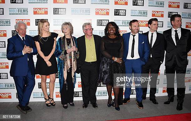 Simon Callow Lily Travers Virginia McKenna Phil Davis Ellen Thomas Brad Moore Stephen Bowman and Nick Knowles attend the UK film premiere of 'Golden...