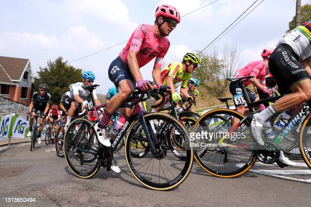 Simon Carr of United Kingdom and Team EF Education - Nippo during the 85th La Fleche Wallonne 2021, Men Elite a 193,6km race from Charleroi to Mur de...