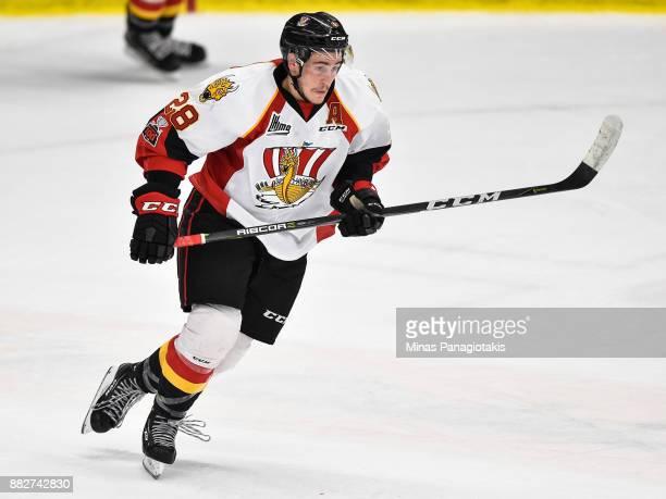 Simon Chevrier of the BaieComeau Drakkar skates against the BlainvilleBoisbriand Armada during the QMJHL game at Centre d'Excellence Sports Rousseau...