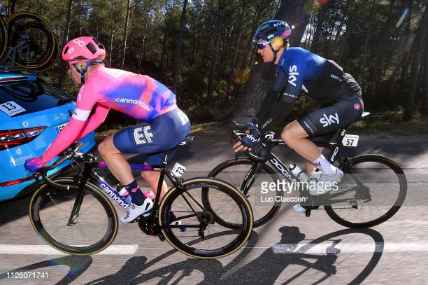 Simon Clarke of Australia and Team EF Education First / Ben Swift of Great Britain and Team Sky / during the 4th Tour de La Provence 2019 Stage 2 a...