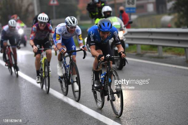 Simon Clarke of Australia and Team EF Pro Cycling / Iljo Keisse of Belgium and Team Deceuninck - Quick-Step / Victor Campenaerts of Belgium and NTT...