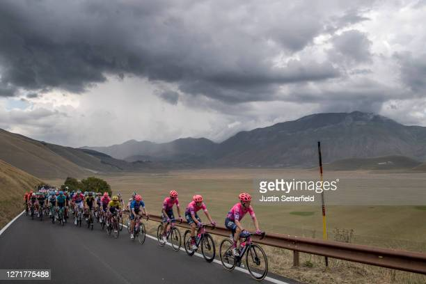 Simon Clarke of Australia and Team EF Pro Cycling / Magnus Cort of Denmark and Team EF Pro Cycling / Ruben Guerreiro of Portugal and Team EF Pro...
