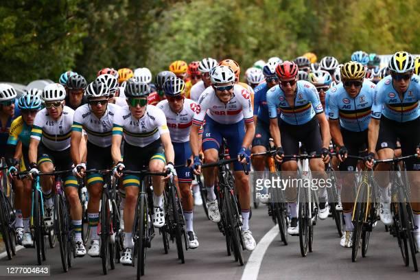Simon Clarke of Australia / Michael Matthews of Australia / Nicholas Schultz of Australia / Luke Rowe of The United Kingdom / Tim Wellens of Belgium...