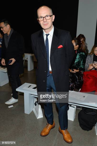 Simon Collins attends the All Comes From Nothing x COOME FW18 show at Gallery II at Spring Studios on February 14 2018 in New York City