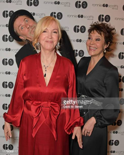 Simon Cooke Sally Greene and Helen McCrory attend A Night At Ronnie Scotts 60th Anniversary Gala at the Royal Albert Hall on October 30 2019 in...