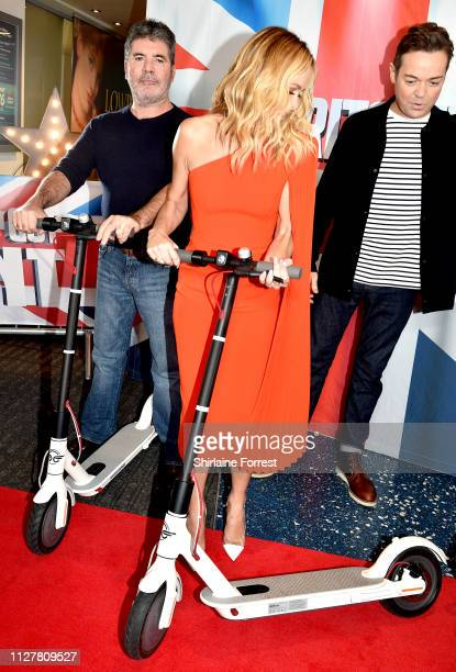 Simon Cowell Amanda Holden and Stephen Mulhern during the 'Britain's Got Talent' Manchester photocall at The Lowry on February 06 2019 in Manchester...