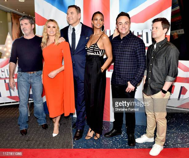 Simon Cowell Amanda Holden David Walliams Alesha Dixon Anthony McPartlin and Declan Donnelly during the 'Britain's Got Talent' Manchester photocall...