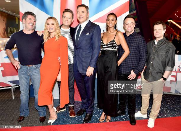Simon Cowell, Amanda Holden, Stephen Mulhern, David Walliams, Alesha Dixon, Anthony McPartlin and Declan Donnelly during the 'Britain's Got Talent'...