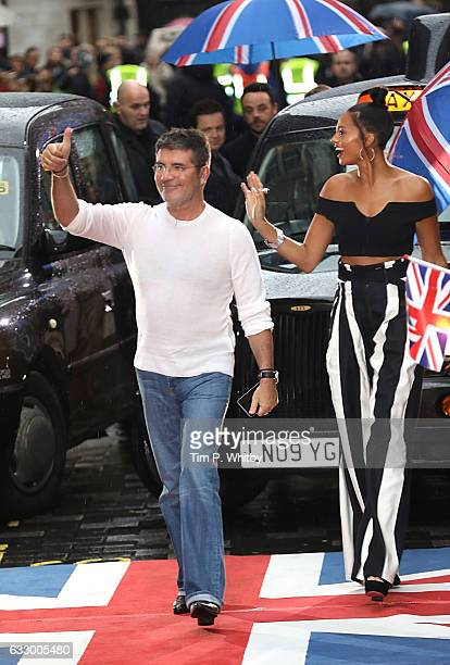 Simon Cowell and Alesha Dixon attend the Britain's Got Talent London Auditions at The London Paladium on January 29 2017 in London United Kingdom