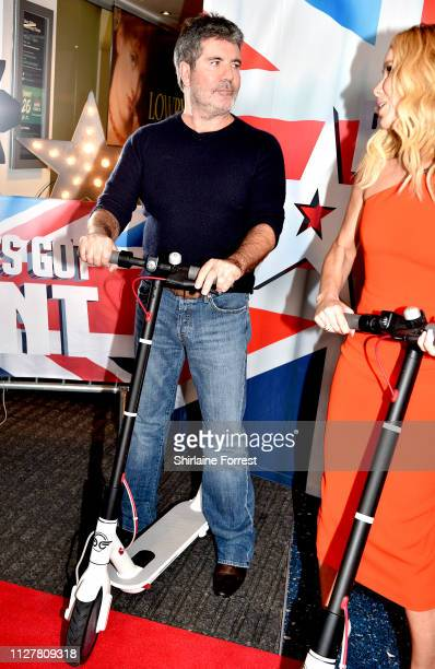 Simon Cowell and Amanda Holden during the 'Britain's Got Talent' Manchester photocall at The Lowry on February 06 2019 in Manchester England