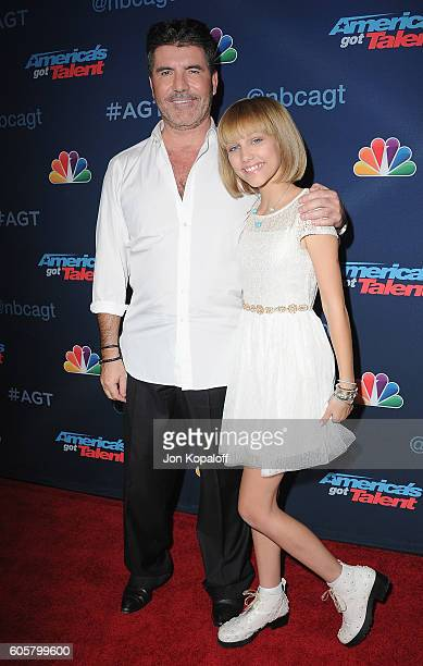 Simon Cowell and America's Got Talent winner Grace VanderWaal arrive at America's Got Talent Season 11 Finale Live Show at Dolby Theatre on September...