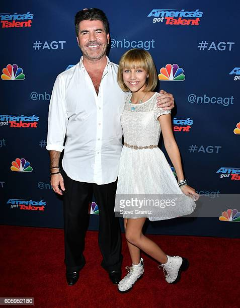 Simon Cowell and Grace Vanderwaal arrives at the 'America's Got Talent' Season 11 Finale Live Show at Dolby Theatre on September 14 2016 in Hollywood...