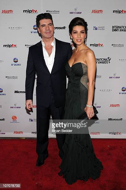 Simon Cowell and his fiancee Mezhgan Hussainy attends the 38th International Emmy Awards at the New York Hilton and Towers on November 22 2010 in New...