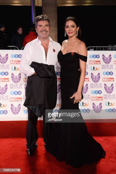 Simon Cowell and Lauren Silverman attend the Pride of Britain Awards 2018 at The Grosvenor House Hotel on October 29 2018 in London England