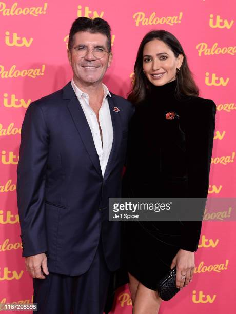 Simon Cowell and Lauren Silverman attends the ITV Palooza 2019 at the Royal Festival Hall on November 12 2019 in London England
