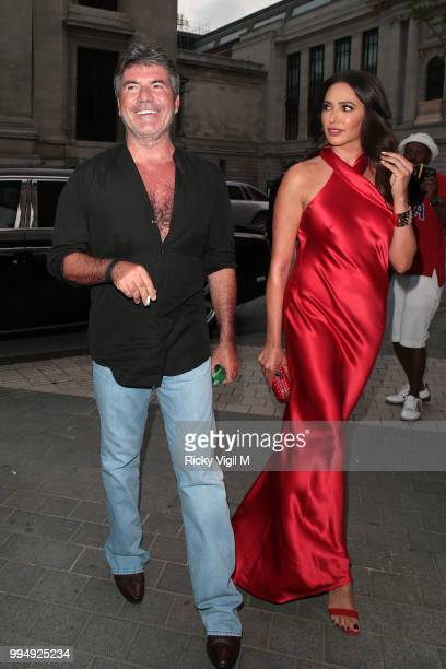 Simon Cowell and Lauren Silverman seen attending Syco summer party at Victoria and Albert Museum on July 9 2018 in London England
