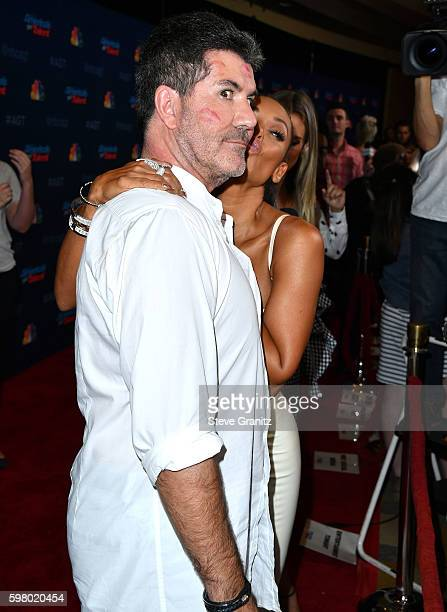 Simon Cowell and Mel B arrives at at the America's Got Talent' Season 11 Live Show at Dolby Theatre on August 30 2016 in Hollywood California