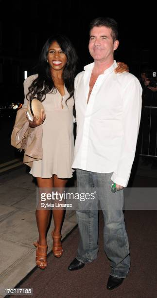 Simon Cowell and Sinitta attends Britain's Got Talent final wrap party at 45 Park Lane on June 8 2013 in London England