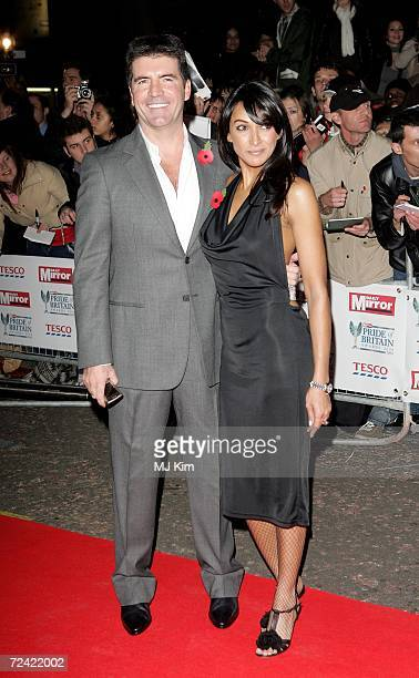 Simon Cowell and Terri Seymour arrive at the Daily Mirror's Pride Of Britain Awards at ITV Centre on November 6 2006 in London England The annual...