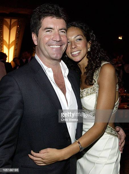 Simon Cowell and Terri Seymour during 55th Annual Primetime Emmy Awards Governors Ball at The Shrine Auditorium in Los Angeles California United...