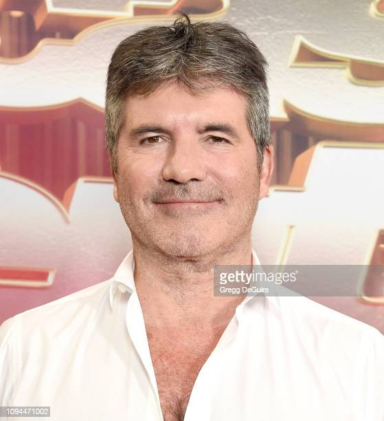 Simon Cowell arrives at America's Got Talent The Champions Finale at Pasadena Civic Auditorium on October 17 2018 in Pasadena California