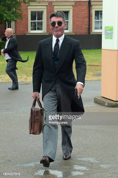 Simon Cowell arrives at Royal Ascot 2021 at Ascot Racecourse on June 18, 2021 in Ascot, England.