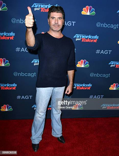 "Simon Cowell arrives at the ""America's Got Talent"" Season 11 Live Show at Dolby Theatre on September 6, 2016 in Hollywood, California."