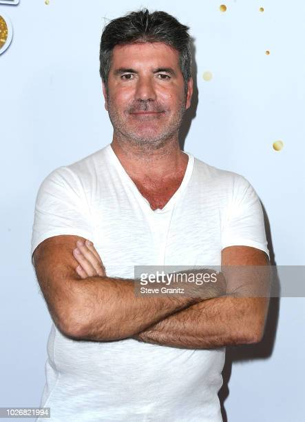 Simon Cowell arrives at the America's Got Talent Season 13 Live Show Red Carpet at Dolby Theatre on September 4 2018 in Hollywood California
