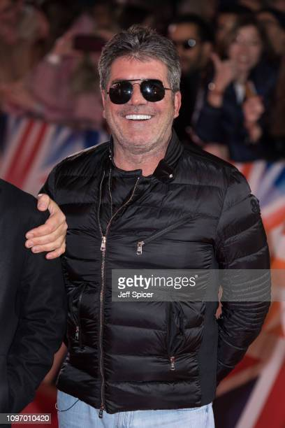 Simon Cowell arrives at the Britain's Got Talent 2019 auditions held at London Palladium on January 20 2019 in London England