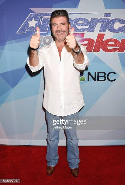 Simon Cowell arrives at the NBC's 'America's Got Talent' Season 12 Live Show at the Dolby Theatre on September 5 2017 in Hollywood California