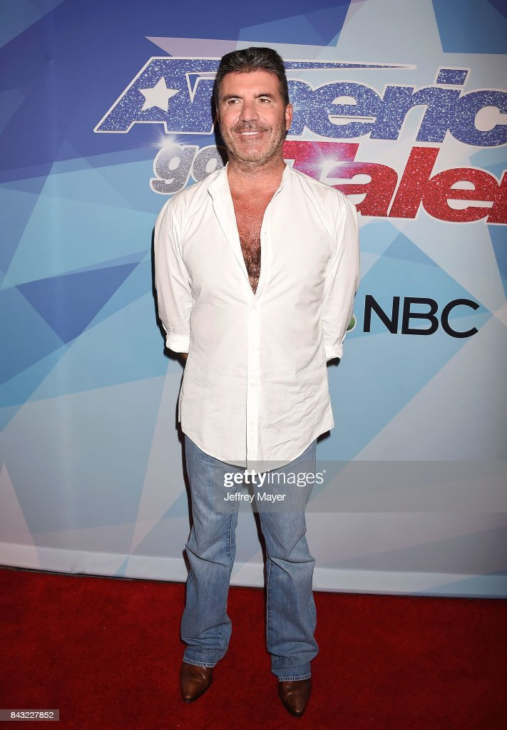 Simon Cowell arrives at the NBC's 'America's Got Talent' Season 12 Live Show at the Dolby Theatre on September 5, 2017 in Hollywood, California.