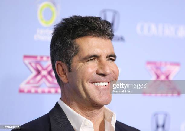 """Simon Cowell arrives at """"The X Factor"""" finalists party held at SLS Hotel on November 4, 2013 in Los Angeles, California."""
