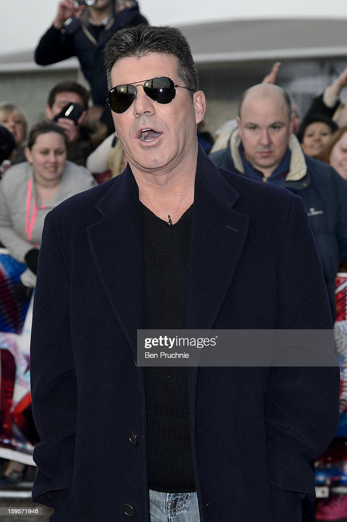 Simon Cowell arrives for the 1st day of judges auditions for 'Britain's Got Talent' at Millenium Centre on January 16, 2013 in Cardiff, Wales.