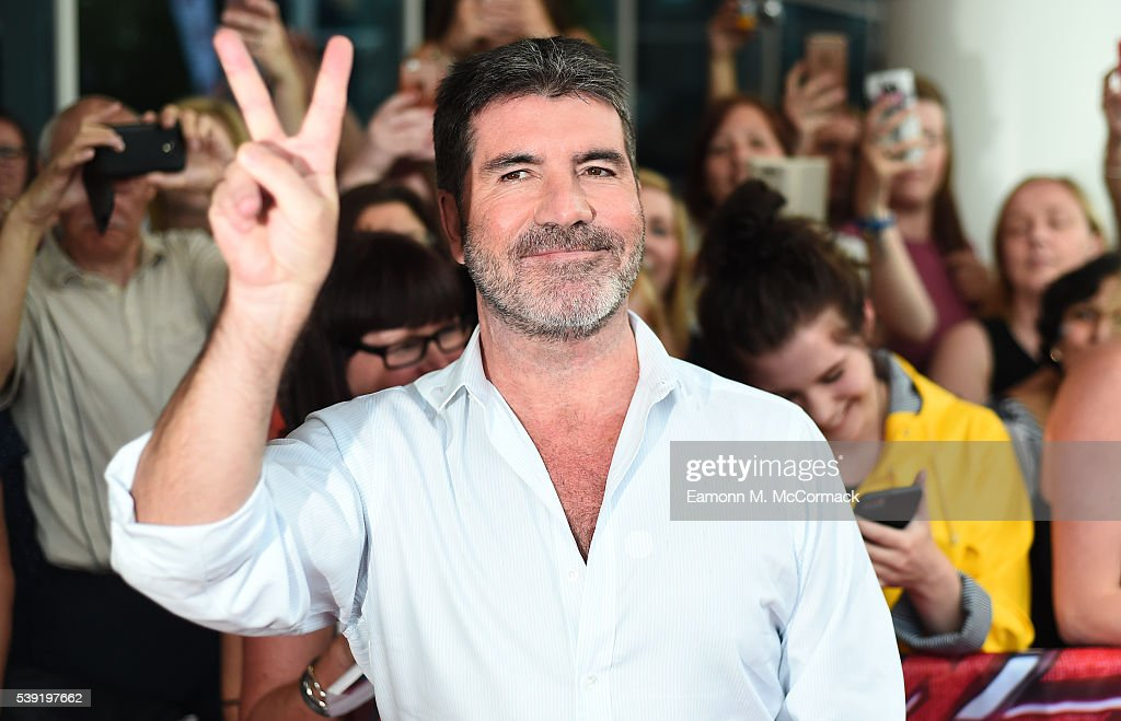 Simon Cowell arrives for the first X Factor auditions of 2016 on June 10, 2016 in Leicester, United Kingdom.