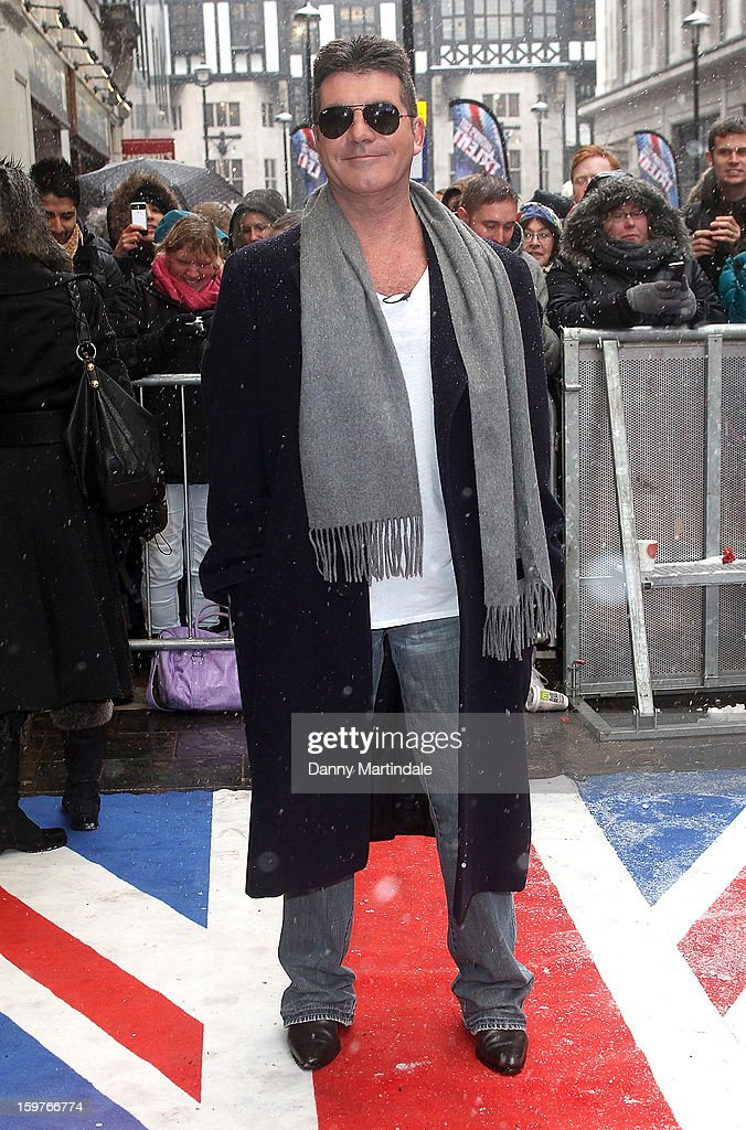 Simon Cowell arrives for the London judges auditions for 'Britain's Got Talent' at London Palladium on January 20, 2013 in London, England.