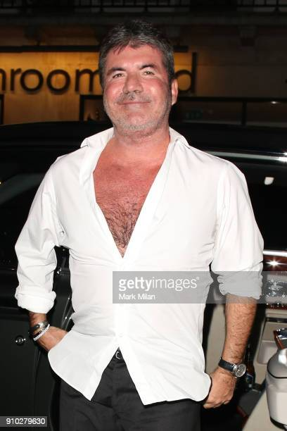 Simon Cowell at 34 restaurant for Richard Holloways leaving party on January 25 2018 in London England