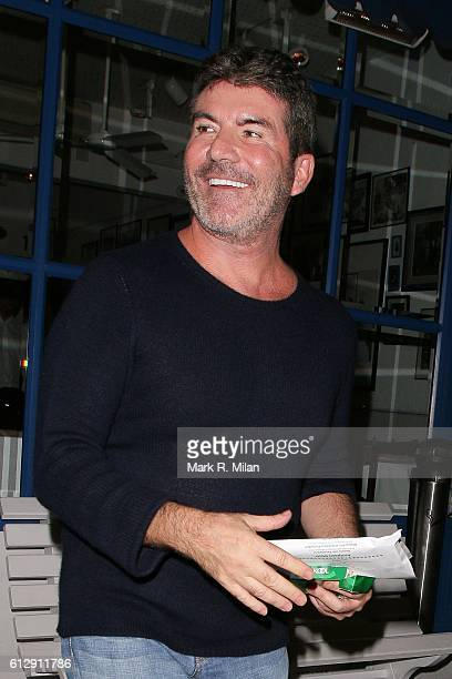 Simon Cowell at La Famiglia restaurant for his Birthday on October 5 2016 in London England