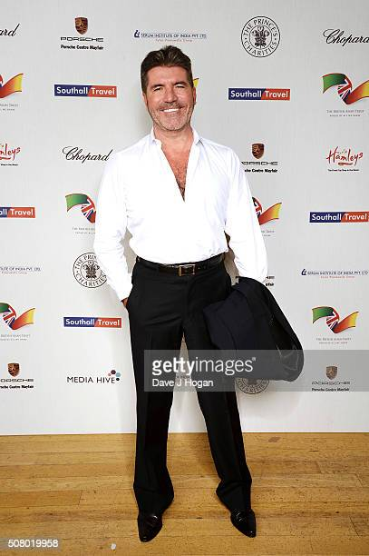 Simon Cowell attends a reception and dinner for supporters of The British Asian Trust at Natural History Museum on February 2 2016 in London England