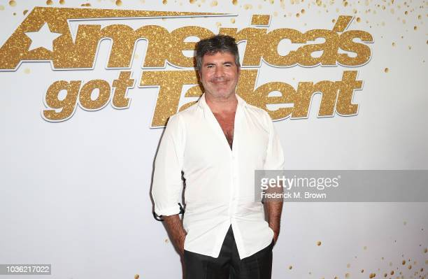 Simon Cowell attends 'America's Got Talent' Season 13 Finale Live Show Red Carpet at the Dolby Theatre on September 19 2018 in Hollywood California