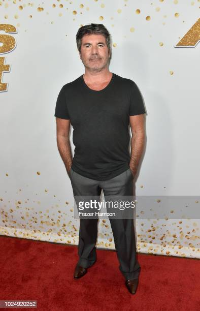 """Simon Cowell attends """"America's Got Talent"""" Season 13 Live Show Red Carpet at Dolby Theatre on August 28, 2018 in Hollywood, California."""